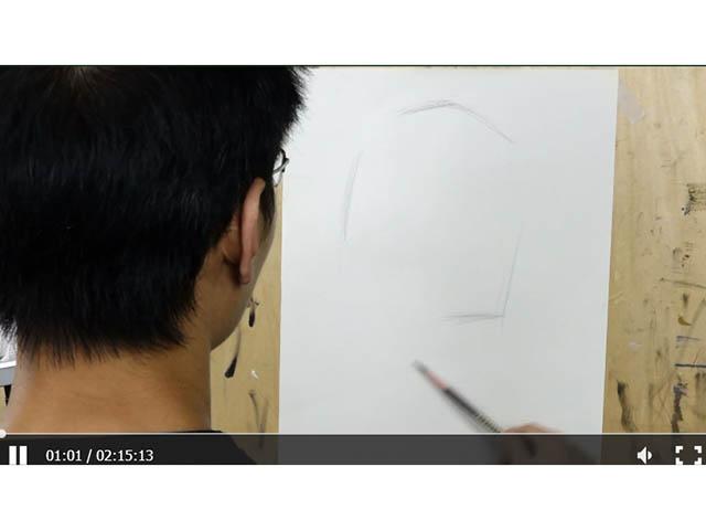 素描人物——劉宇